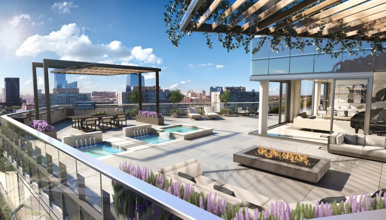 Outdoor Space at ultra luxury condo 2100 Hamilton in Philly